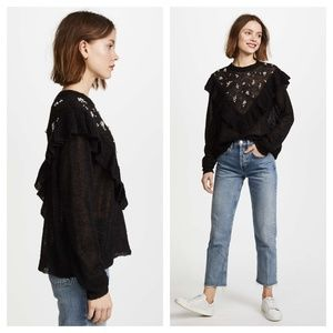 Wildfox Sweaters - Wildfox Black Alpaca & Wool Baggy Beach Jumper